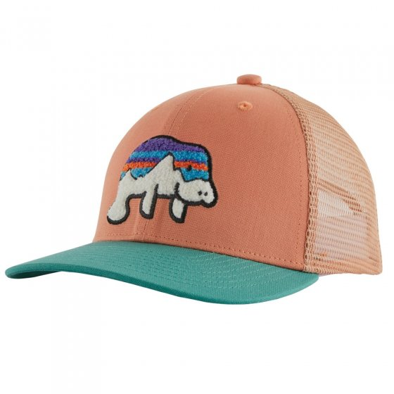 Patagonia Kids Trucker Hat - Fitz Manatee Mellow Melon
