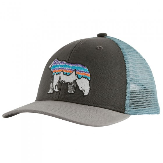 Patagonia Kids Trucker Hat - Illustrated Fitz Bear Forge Grey