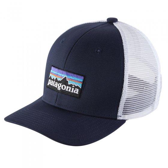 Patagonia Kids Trucker Hat - P6 Logo: Navy Blue