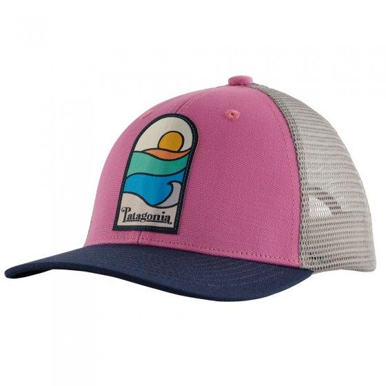 Patagonia Kids Trucker Hat - Sunset Sets: Marble Pink