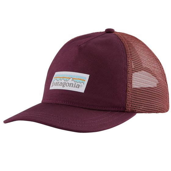 Patagonia Women's Pastel P-6 Label Layback Trucker Hat - Chicory Red