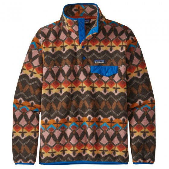 Patagonia W's Synchilla Snap-T Companions Big: Anthos Pink Pullover Fleece