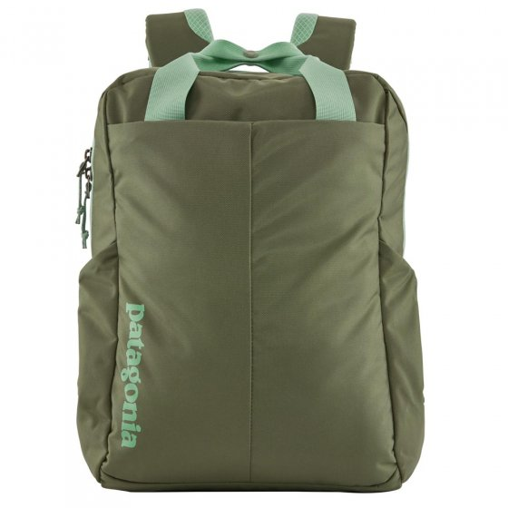 Picture of the Patagonia Tamangito backpack in camp green . Picture has a white background.