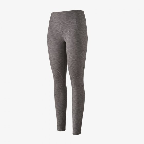 Picture of grey narwhal centered legging. Picture background is white.
