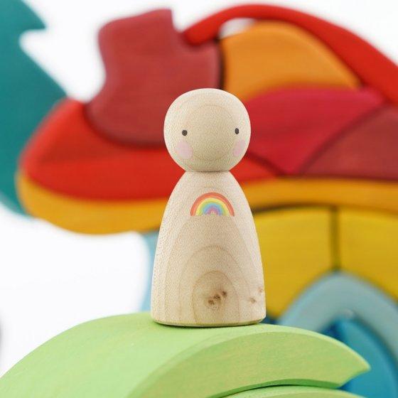 Peepul Rainbow Sycamore Peg Doll