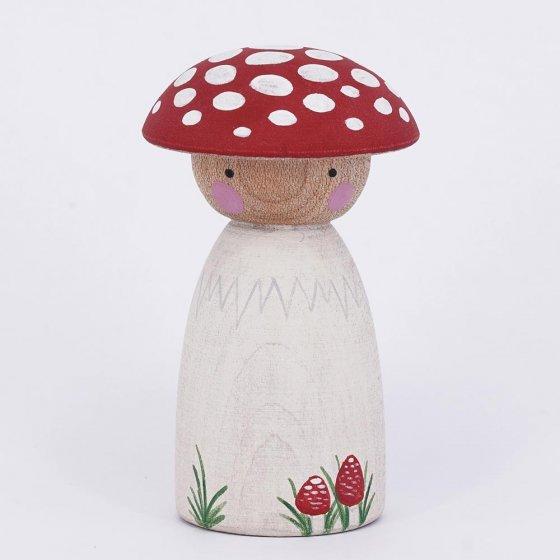 Peepul Toadstool Peg Doll