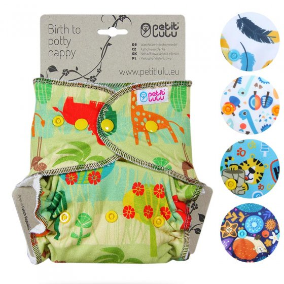 Petit Lulu One-Size Fitted Nappy Snaps
