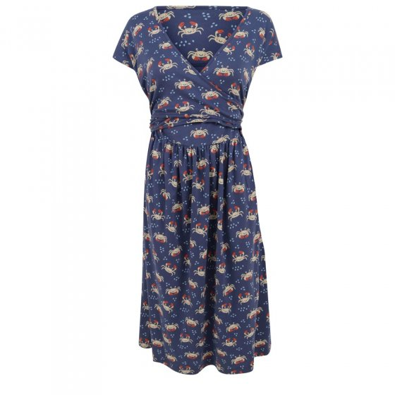 Piccalilly Adult Ocean Crab Wrap Dress