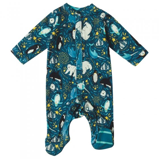 Piccalilly Arctic Footed Sleepsuit