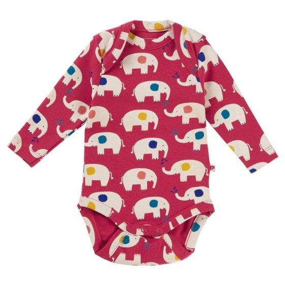 Piccalilly Elephant Baby Bodysuit