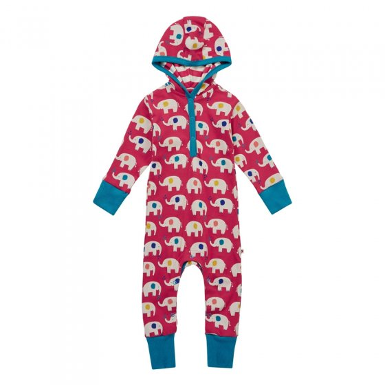 Piccalilly Elephant Hooded Playsuit