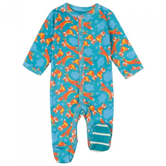 Piccalilly Foxes Footed Sleepsuit