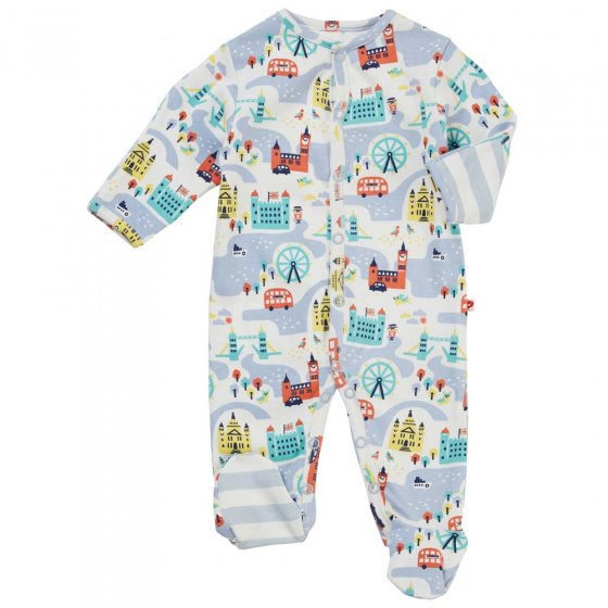 Piccalilly Little London Footed Sleepsuit