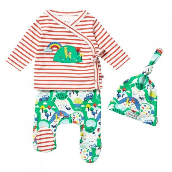 Piccalilly Malham Farm 3 Piece Baby Set