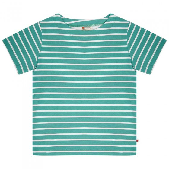 Piccalilly Building Block Striped green T-Shirt