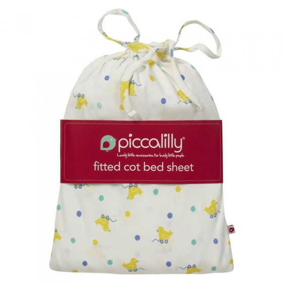 Piccalilly Toy Duck Cot Bed Sheet in a Bag
