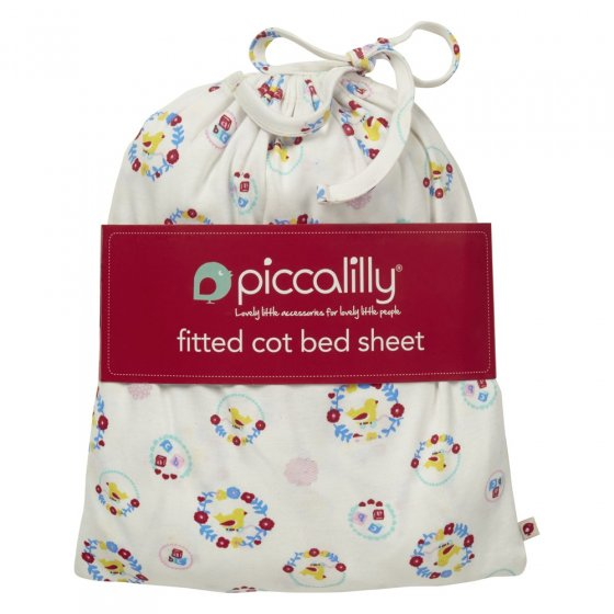 Piccalilly Nursery Floral Cot Bed Sheet in a Bag