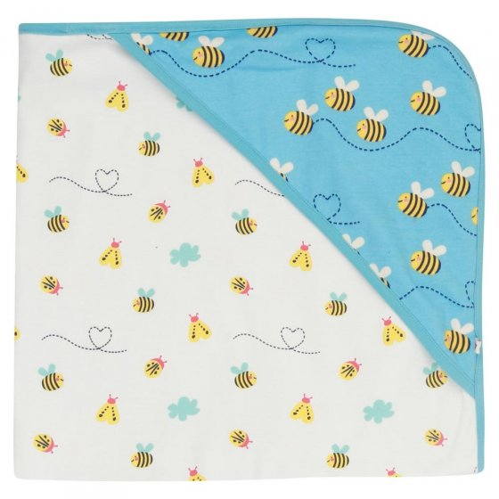 Piccalilly Bumblebee Hooded Baby Shawl