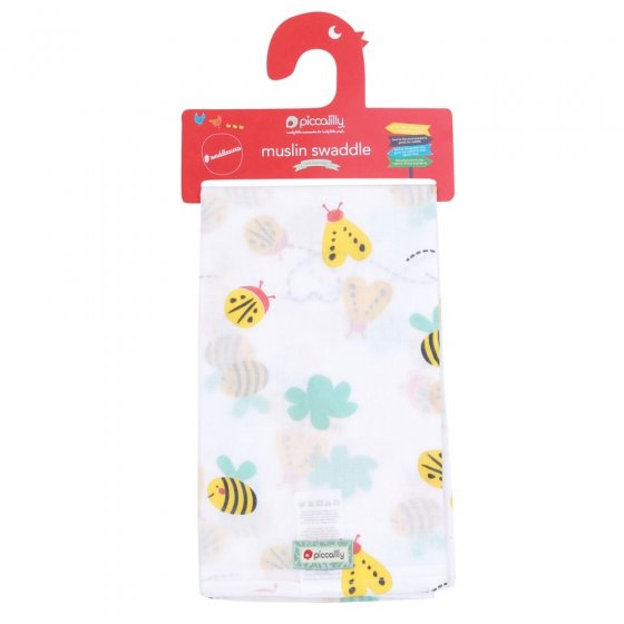 Piccalilly Little Wings Muslin Swaddle