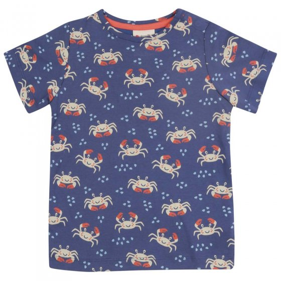 Piccalilly Ocean Crab All-Over Print T-Shirt
