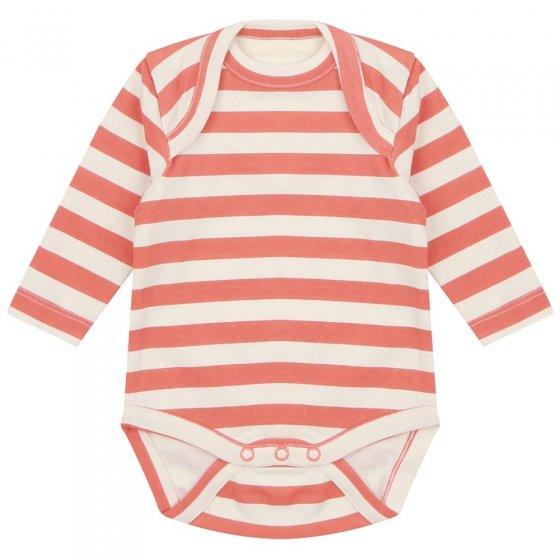 Piccalilly Spicy Orange Stripe Baby Bodysuit
