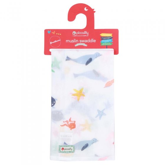 Piccalilly Underwater Muslin Swaddle