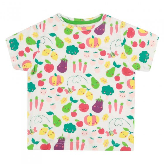 Piccalilly White Grow Your Own All-Over Print T-Shirt