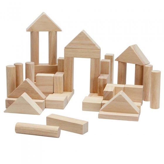 Plan Toys 40 Natural Unit Blocks
