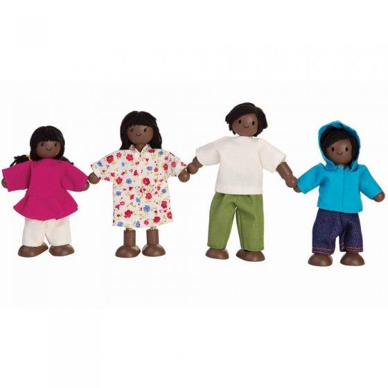 Plan Toys Dolls House Family - Black Skin, Black Hair