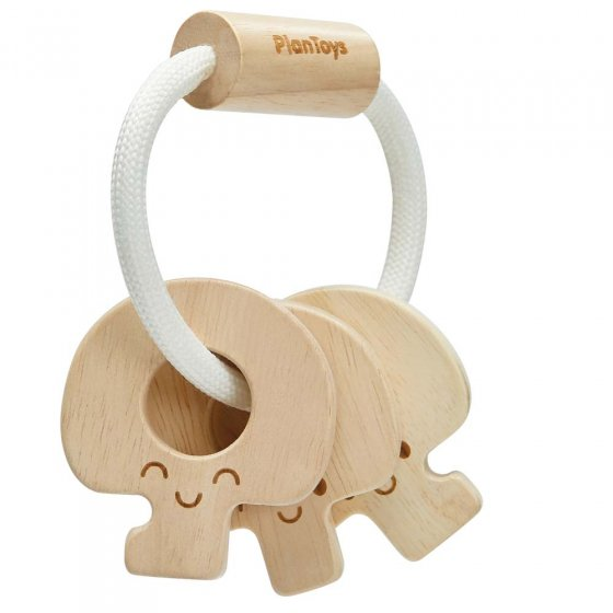 Plan Toys Natural Baby Key Rattle