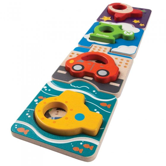 Plan Toys Vehicle Puzzle