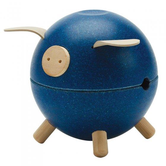 Plan Toys Blue Piggy Bank