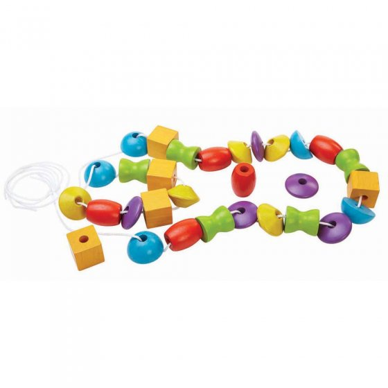 Plan Toys Wooden Lacing Beads