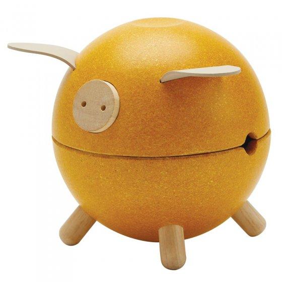 Plan Toys Yellow Piggy Bank