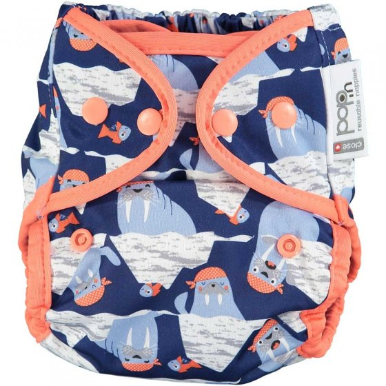 Pop-in Popper Walrus Nappy