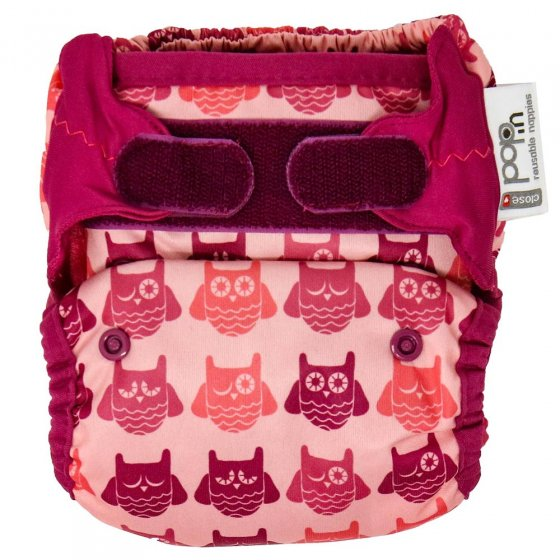 Pop-in Vintage Collection Pink Owl Nappy