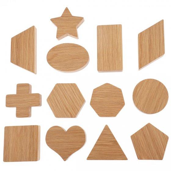 Reel Wood 13 Shapes Blocks Set