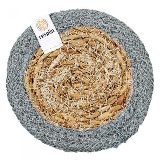 ReSpiin Jute & Seagrass Coaster - Grey