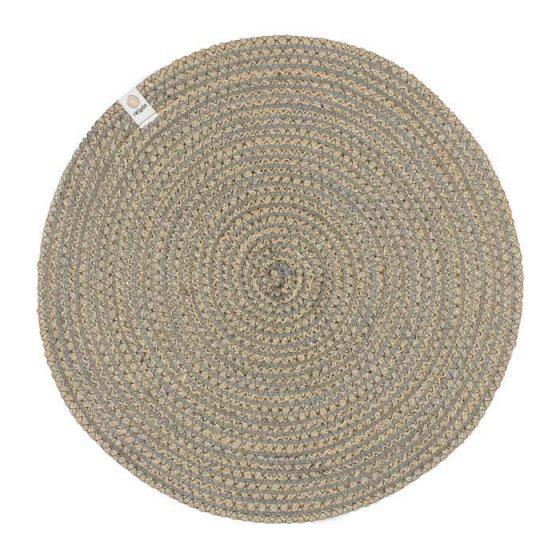 ReSpiin Spiral Jute Natural / Grey Tablemat