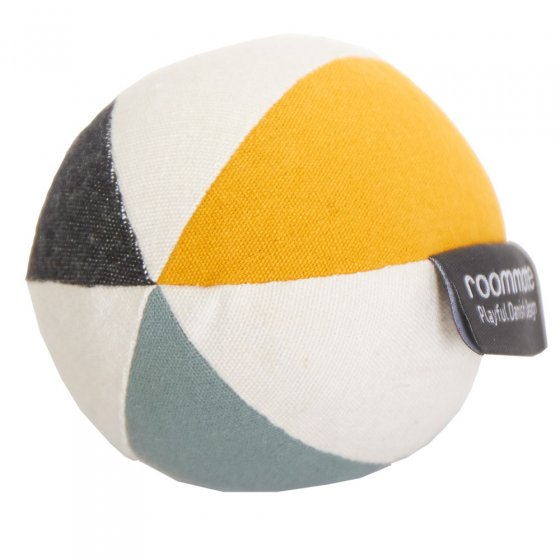 Roommate Canvas Ball With Bell - Sea Grey