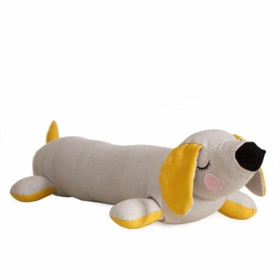 Roommate Lazy Grey Puppy Cushion