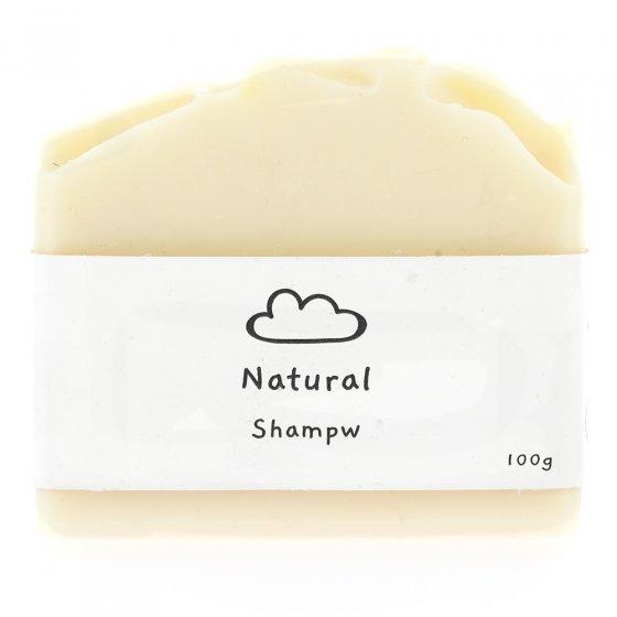 Sebon natural shampoo bar on a white background