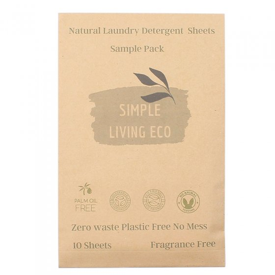 Simple Living Eco Laundry Detergent Sheets - Unscented 10 Pack
