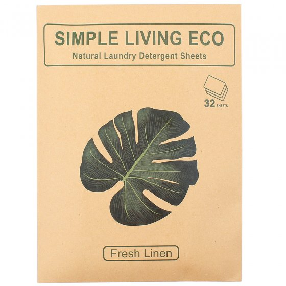 Simple Living Eco Laundry Detergent Sheets - Fresh Linen 32 Pack