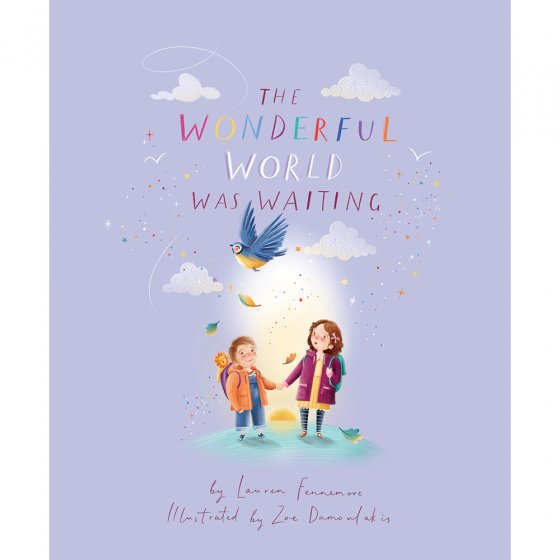 'The Wonderful World was Waiting' by Lauren Fennemore, book cover on a white background