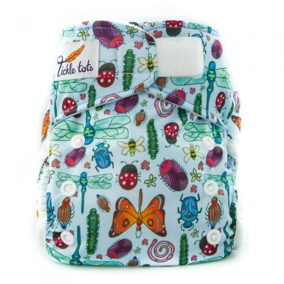 Tickle Tots Hybrid Nappy - Bugs
