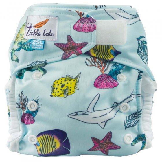 Tickle Tots AIO Nappy - Ocean
