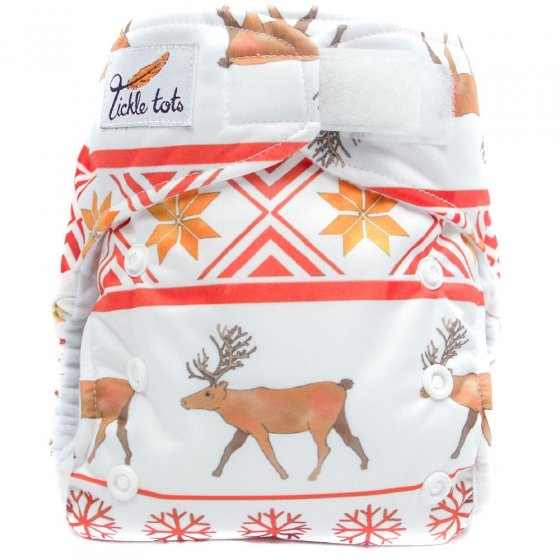 Tickle Tots AIO Nappy - Winter Red