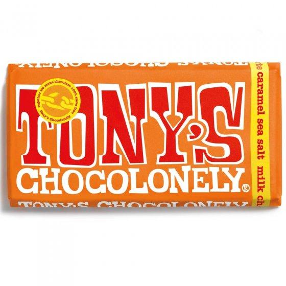 Tony's Chocolonely Fairtrade Milk Caramel Sea Salt Chocolate 180g