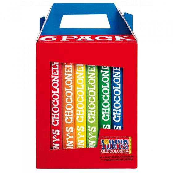 Tony's Chocolonely Classics Rainbow 6 Pack